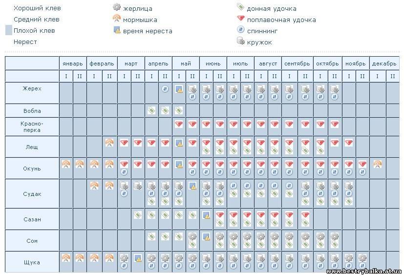 календарь рыбака в карасуке
